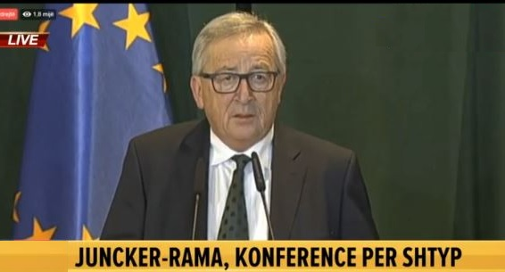 Jean Claude Juncker in Tirana: Problems with Greece should be resolved