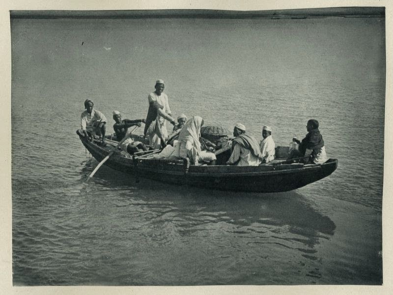 Indian Passengers on a Small Ferry Boat - c1900