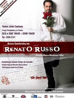 Saiba tudo sobre Renato Russo - a peça  - foto: divulgação