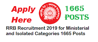 Ministerial and Isolated Categories RRB 2019