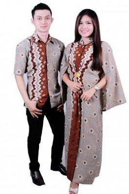 Gambar baju muslim couple kombinasi batik