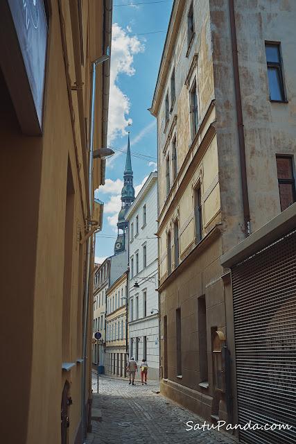 Узкие улицы риги