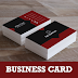 Red Black Free Business Card Template PSD