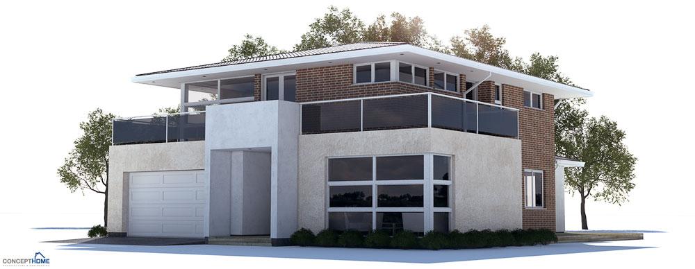 Plantas de casas modernas planta de casa moderna ch236 for Casa moderna 8
