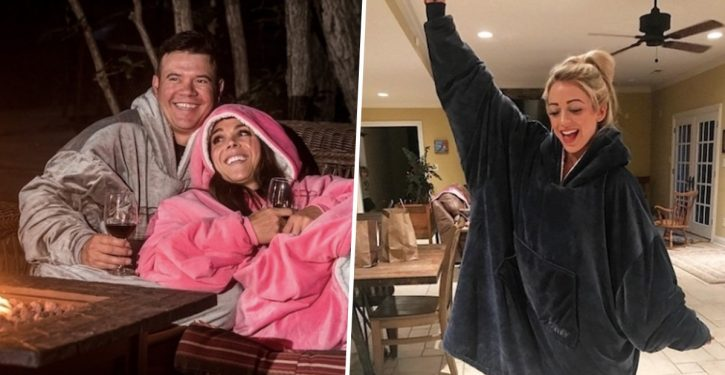 These New Sweatshirt Blanket Now Exist For People Who Are Always Cold