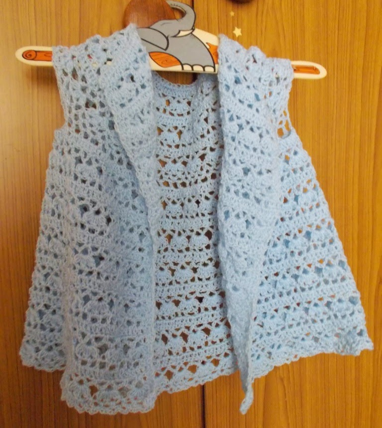 free crochet girl dress pattern, free crochet open front dress pattern