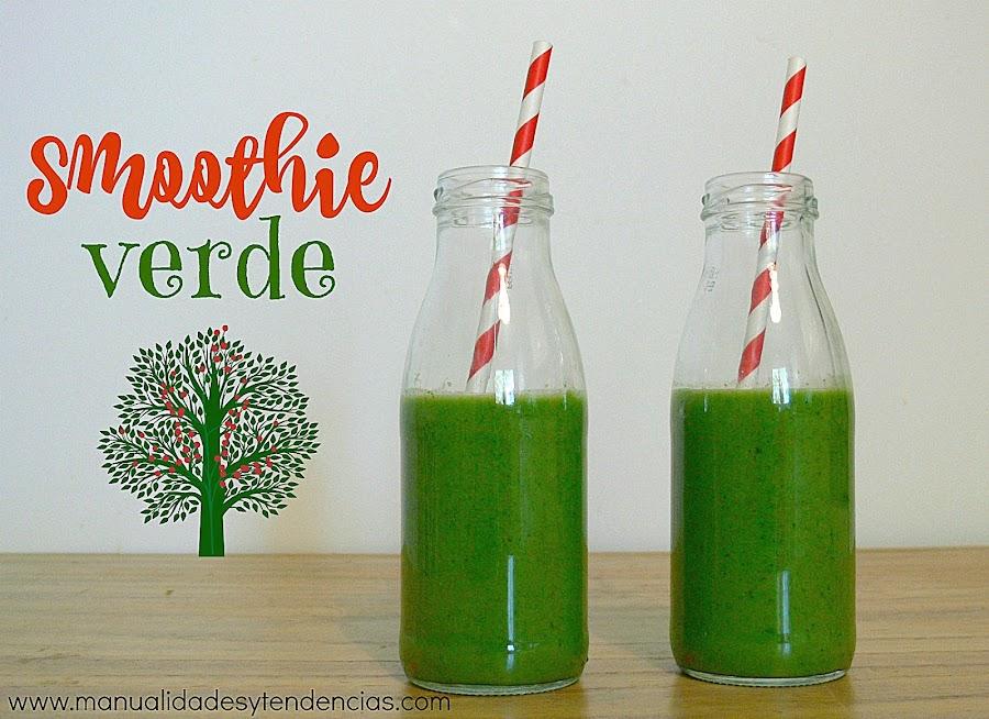 Receta de smoothie verde desintoxicante