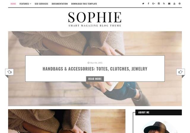 Sophie Minimal Blogger Theme