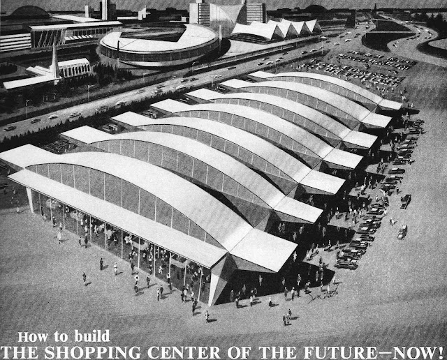 1961 supermarket concept illustration