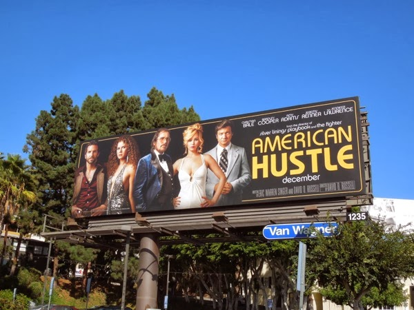 American Hustle movie billboard ad