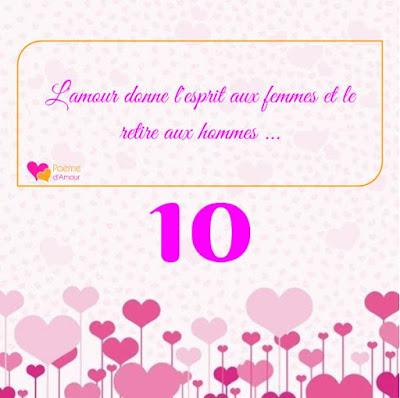 L'amour donne l'esprit aux femmes et le retire aux hommes