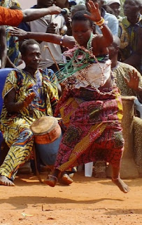Ritual African dance