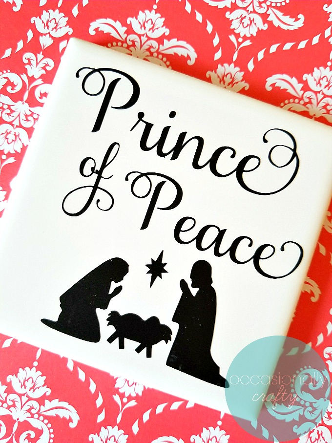 Prince of Peace Christmas Vinyl Tile Gift