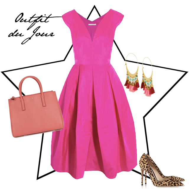 Outfit du Jour Pink Party Dress