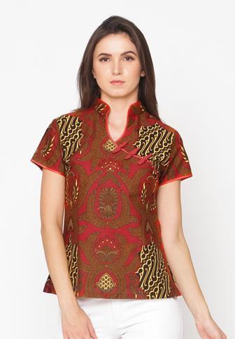 Contoh Model Baju Batik Atasan Wanita Gemuk Supaya Terlihat Langsing