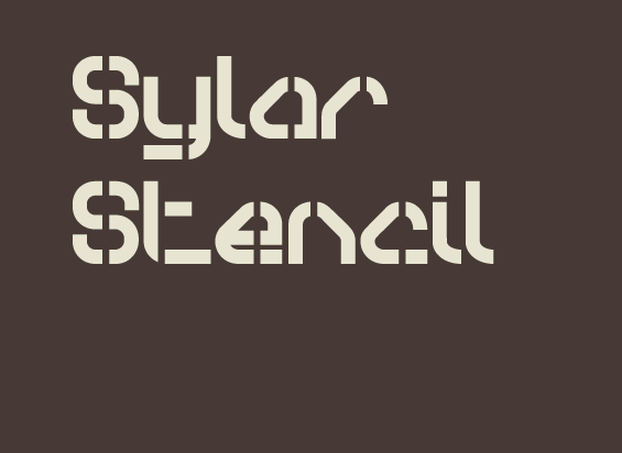 Sylar Stencil Font