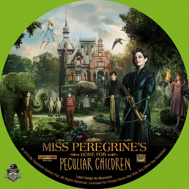 Miss Peregrines Home For Peculiar Children 4k Bluray Label