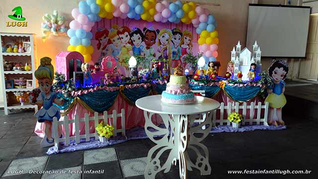 Festa Princesas Baby Disney - Decoração tradicional luxo