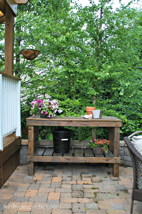 How make your own potting bench