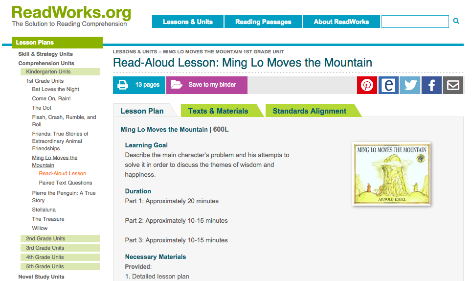 Free Technology for Teachers: ReadWorks Offers Reading ...