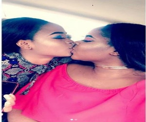 Nigerian Sisters From Delta State Blasted on Social Media for Kissing in the Mouth.
