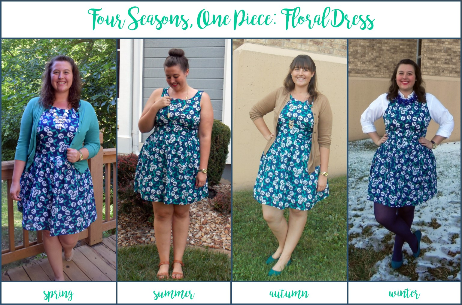 Pictures of dresses of different seasons in life