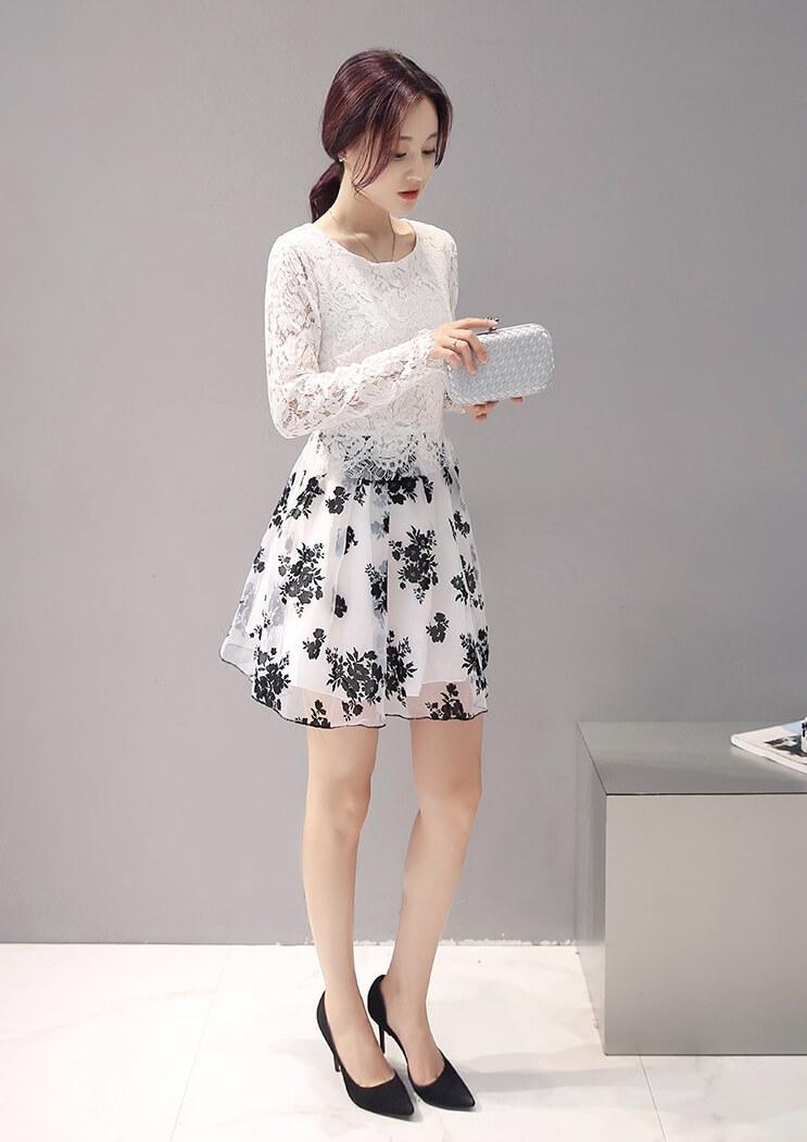 DRESS CANTIK KOREA - DRESS IMPORT KOREA STYLE