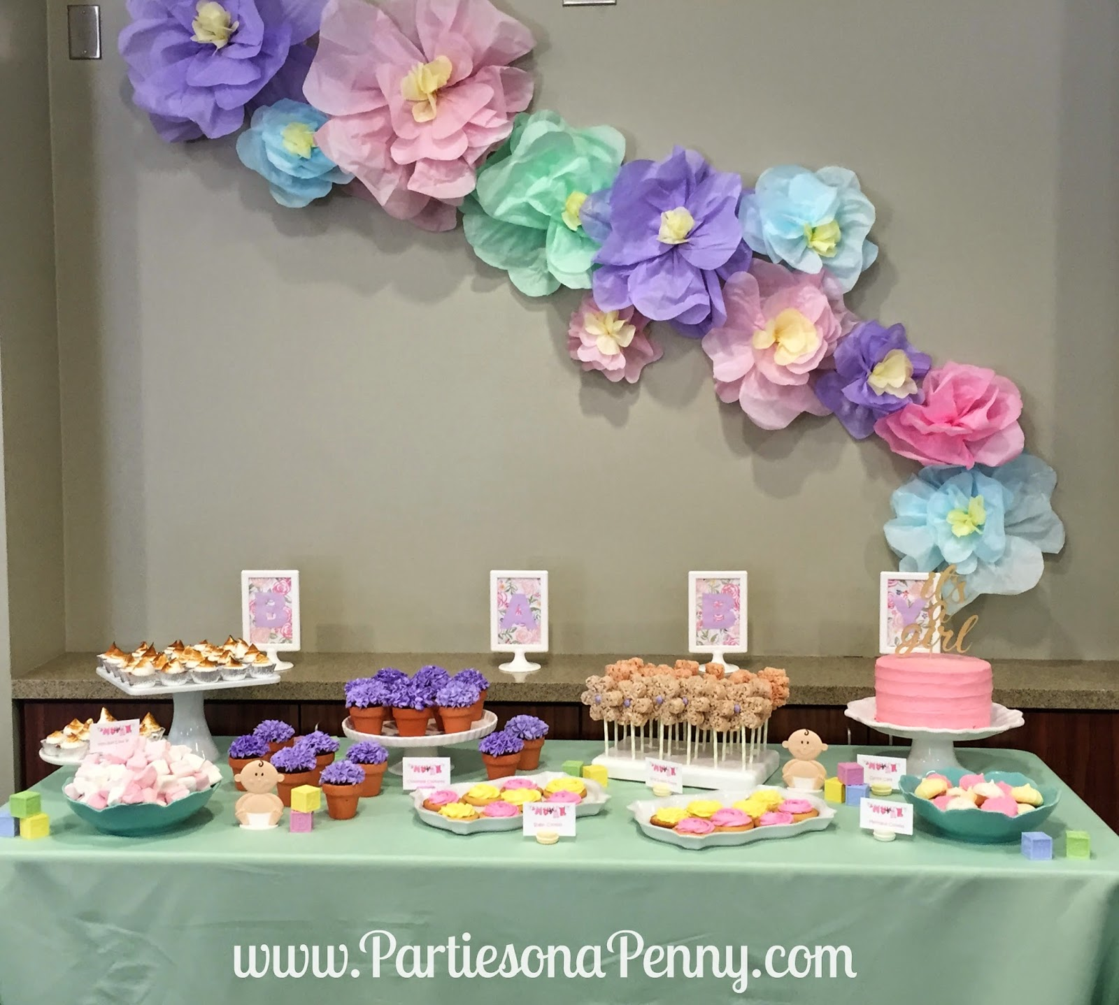 Parties On A Penny: Spring Themed Baby Shower