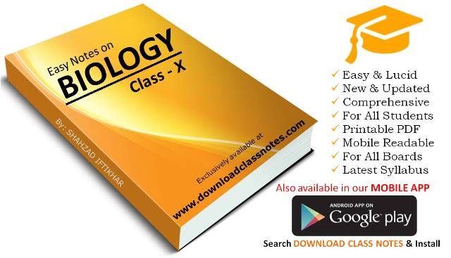 Biology Notes for 10th Class / SSC-II (Federal Board, Islamabad)