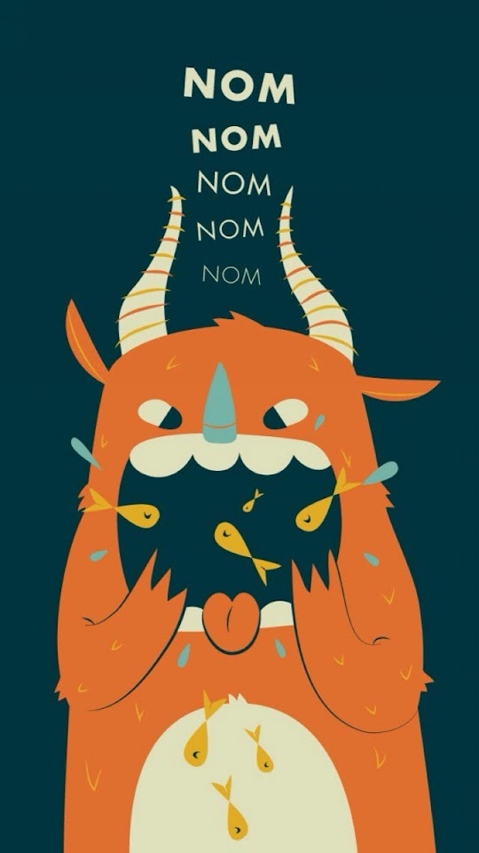 Nom Nom Nom   Galaxy Note HD Wallpaper