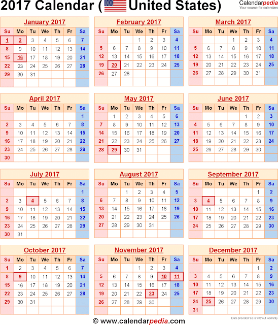 2017 Federal Holidays Calendar, Federal Holiday Calendar 2017, 2017 Federal Holidays Calendar USA, 2017 Federal Holidays Calendar UK