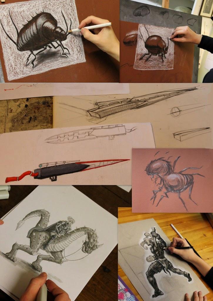 game art opleiding, game art,tekenles, tekenlessen, CGMA, portfolio, NHTV, basisprincipes, perspectief, tekenen, HKU, FZD, life support, cursus, schaduw, game art, concept design,
