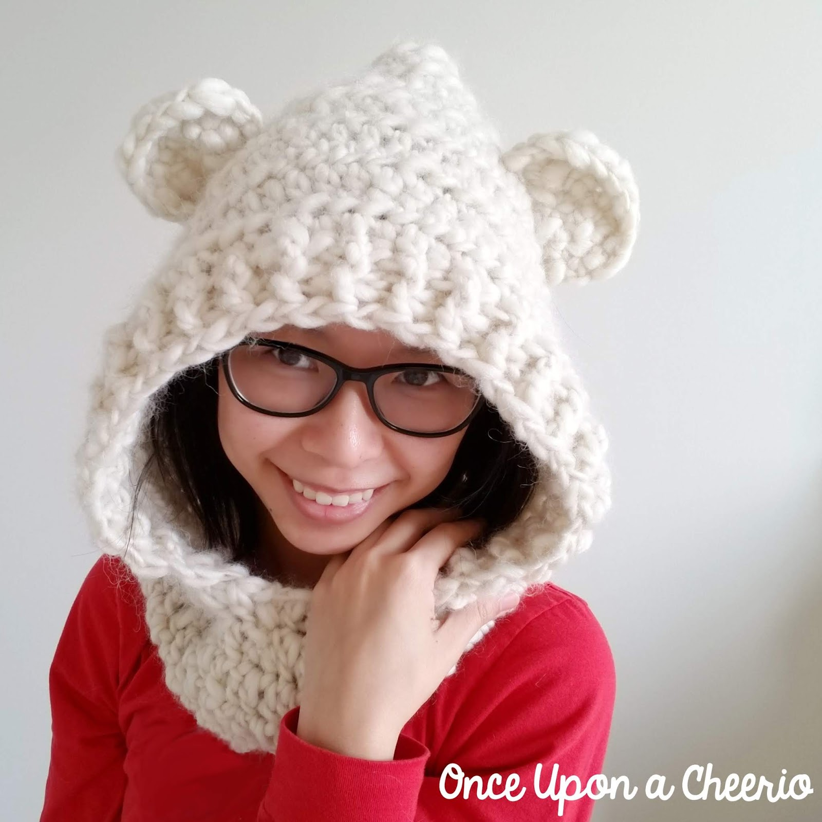 Mama Bear Hooded Scarf FREE Crochet Pattern