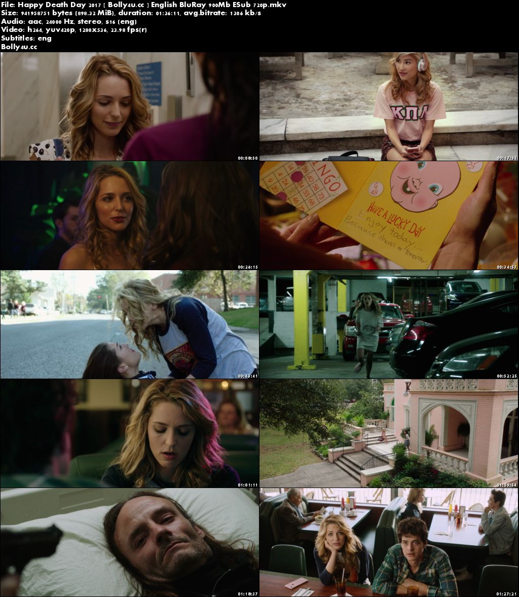 Happy Death Day 2017 BluRay 900MB English 720p ESub Download