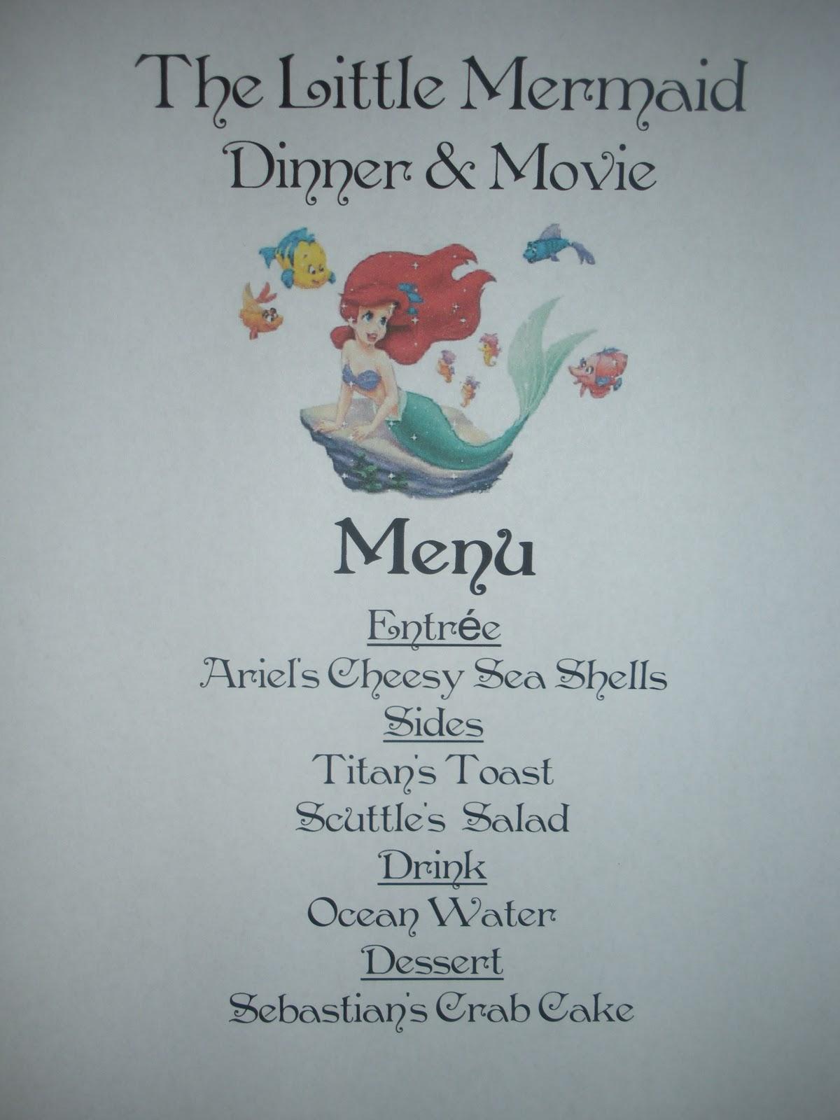 Craftzilla Disney Movie Nights The Little Mermaid