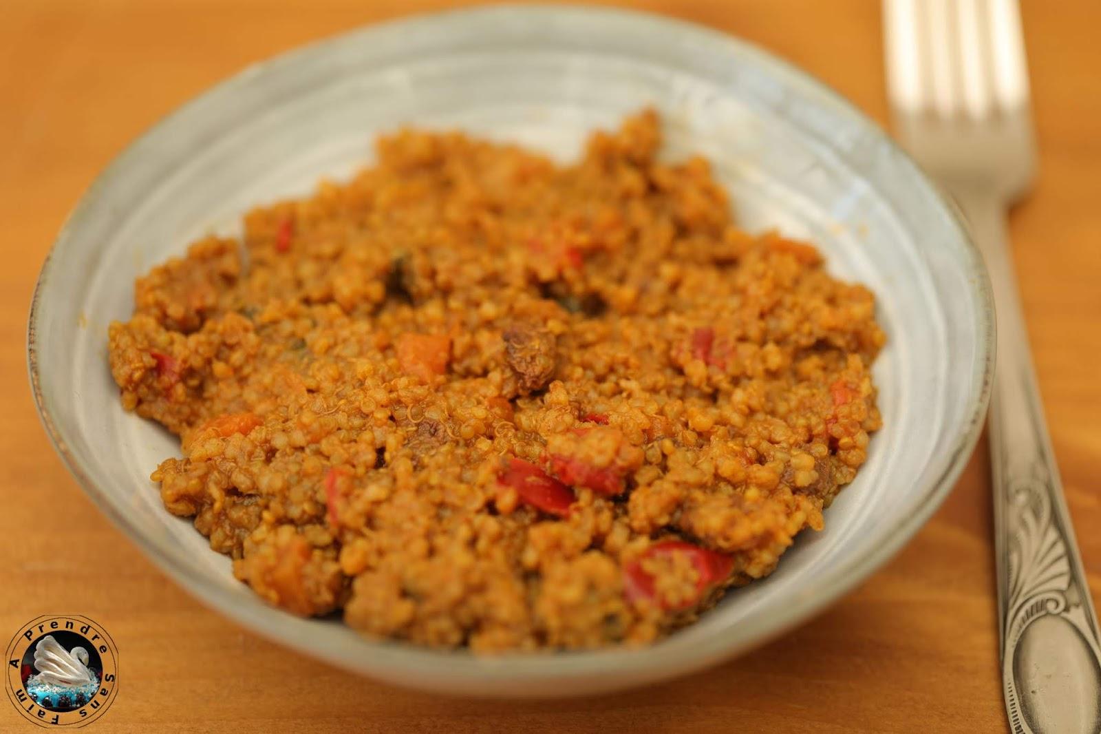 Quinoa bowl façon tajine