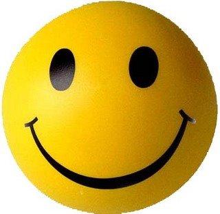 Dibujo de una pelota sonriendo