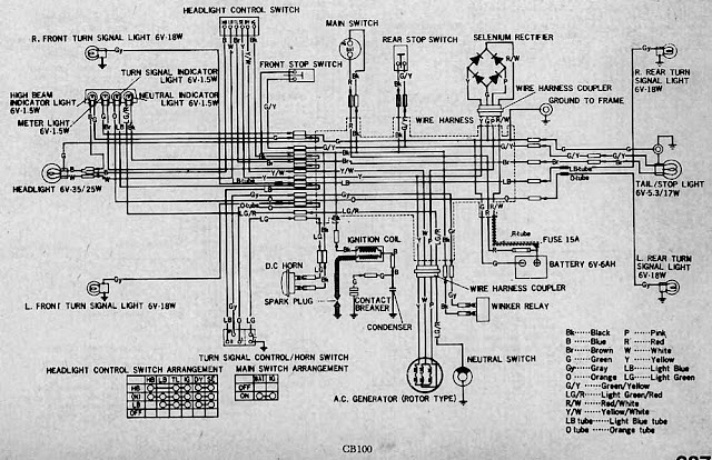 Diagram kelistrikan motor diagram kelistrikan motor honda cb100 swarovskicordoba Choice Image