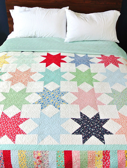 Sawtooth Star Quilt Free Pattern