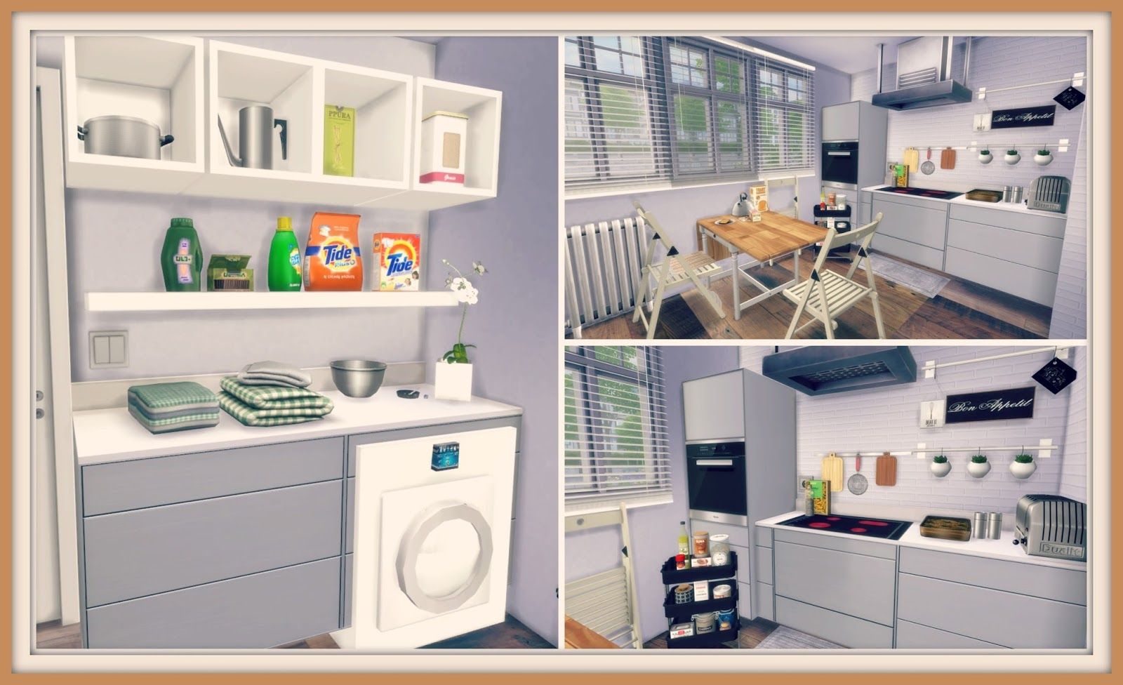 Gamer Home Decor Sims 4 White Kitchen With Laundry Dinha