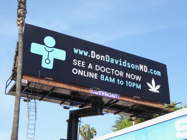 Don Davidson MD Weed doctor billboard