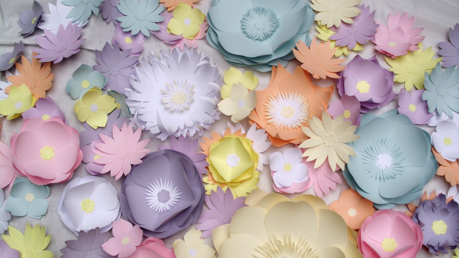 Large paper flowers - wedding decoration - multicolored