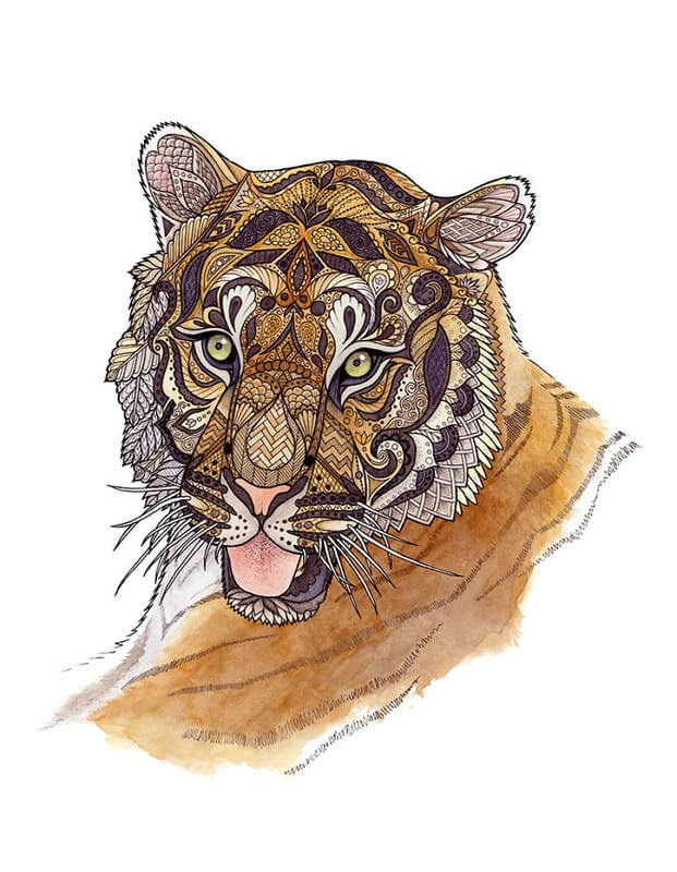 05-Young-Tiger-Z-H-Field-Distinctive-Animal-Drawings-and-Paintings-www-designstack-co