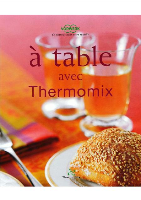 Titre de livre À table avec Thermomix