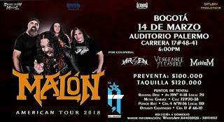 Concierto de MALON en Bogotá 2018