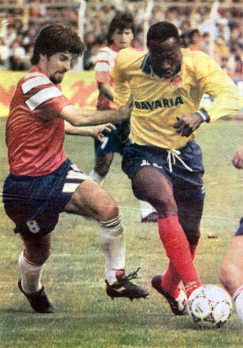 Colombia y Chile en partido amistoso, 6 de junio de 1993