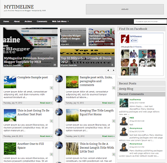 Download MyTimeLine – Free Responsive Blogger Template