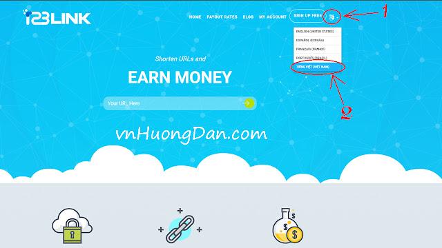 Rút gọn link kiếm tiền với 123link.io - Rate cao và thanh toán qua ngân hàng Việt Nam