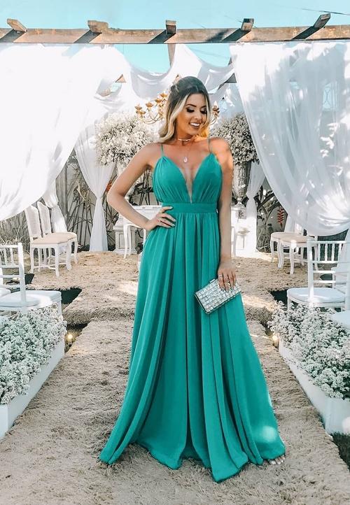 vestido verde esmeralda madrinha