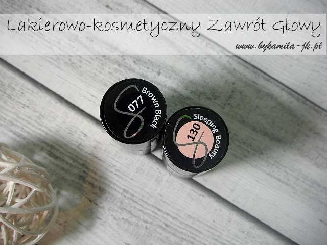 Lakiery hybrydowe Semilac 77 Brown Black 130 Sleeping Beauty hybrydy